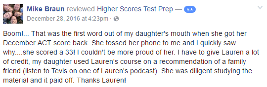 Higher Scores Test Prep Review from Mike B.