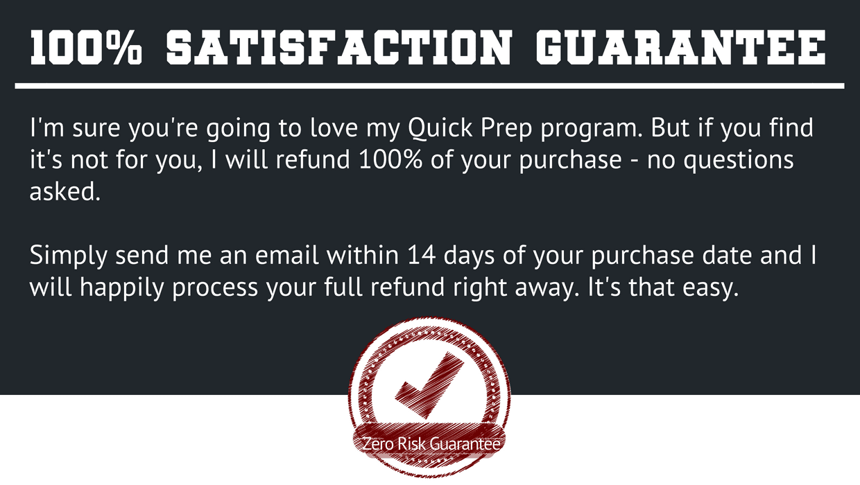 Your Quick SAT Prep Course Comes With 100% Satisfaction Guaranteed